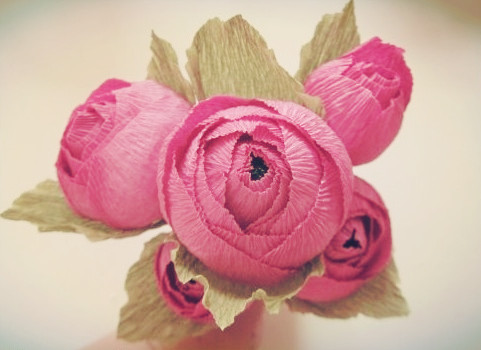 Crepe Paper Candy Rose